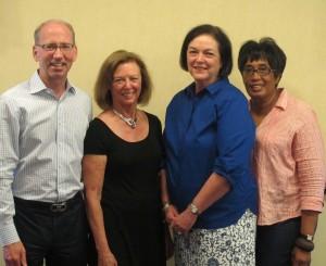 (from left to right): Chip DiPaula, Ellen Libby, Susan Walker, Cheryl Miller. Photo : Lynn McReynolds.