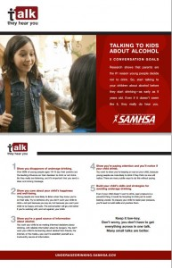 SAMHSA's 5 Goals of the Booze Talk