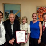 Arundel Center artist recognized by County Executive Schuh