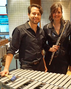 Karen Johnson and Manny Arciniega present Heartbeat, music for flute and percussion with music travels from Ancient Bali to Japan, Argentina and Electronica of today on Friday November 27, 8 pm at the Unitarian Universalist Church of Annapolis. Photo Credit: Liana Harvath