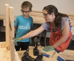 AACC Kids in college carpentry
