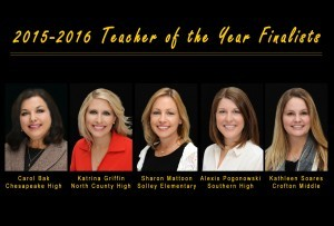 Teacher of the Year Finalists 2016