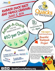 Rubber duck race flyer