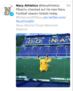 Navy Athletics Picachu