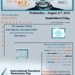 International Overdose Awareness Day scheduled for August 31st