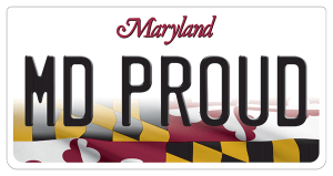MD license plate