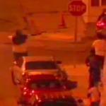 Video still of incident