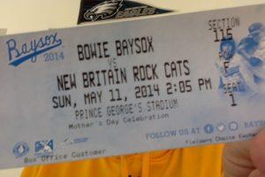 Baysox Ticket