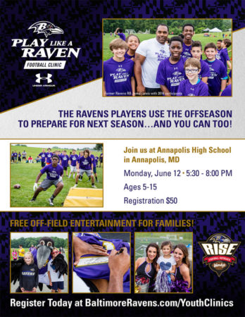 Baltimore Ravens bringing clinic and fan zone to Annapolis High on June 12th