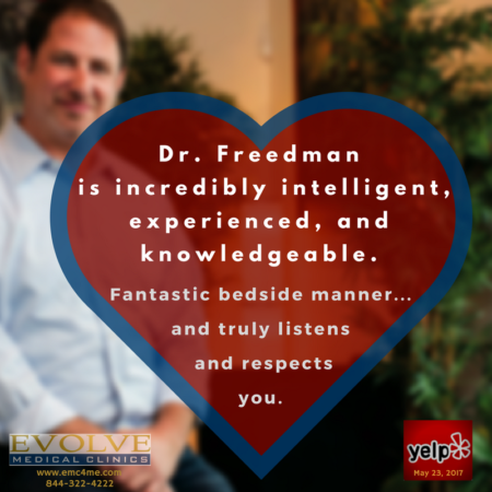 Dr. Michael Freedman is the founder and one of the physicians of Evolve Medical Clinics. Evolve provides the highest rated Primary Care and Urgent Care serving Annapolis, Edgewater, Davidsonville, Crownsville, Severna Park, Arnold, Gambrills, Crofton, Waugh Chapel, Stevensville, Pasadena and Glen Burnie.