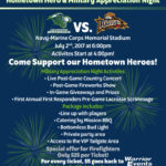 Hometown Hero & Military Appreciation Night at Bayhawks scheduled for July 2nd