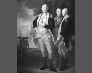 Peale's painting of Washington with Lafayette and Tilghman.