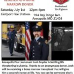 Annapolis firefighter's battle with Leukemia spurs marrow donor drive on July 1