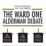 Ward 1 Alderman debate scheduled for August 31st