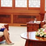 First Lady Yumi Hogan meets with South Korean First Lady