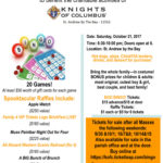 """Knights of Columbus to host """"Boo Bingo"""" on October 21st"""