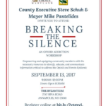 Breaking The Silence: An Opioid workshop next Wednesday