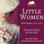 "Annapolis Opera kicks off season this weekend with ""Little Women"""