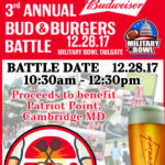 Military Bowl to host 3rd Annual Bud & Burger Battle at Official Tailgate