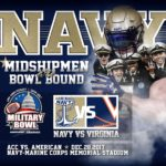 Navy to take on UVA Cavaliers in Military Bowl