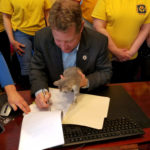 Schuh signs cat legislation