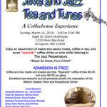 Java & Jazz on March 11th to benefit Goshen Farm