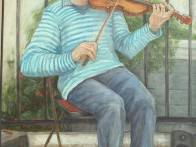 Maryland Society of Portrait Painters exhibit on deck for Quiet Waters Park