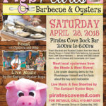 Pigs & Pearls BBQ and Oyster Roast coming up on the 28th at Pirate's Cove