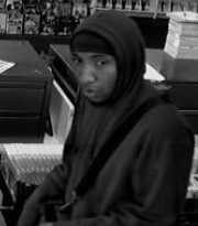 Suspect sought by Anne arundel County Police in armed robbery of Blockbuster in Glen Burnie, MD.