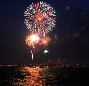 Fireworks Over Annapolis Harbor