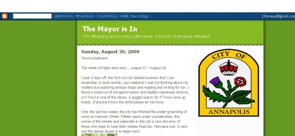 This is the Mayor's Official Blog Yesterday