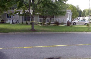 This is the scene of a double homicide Wednesday in Lothian. (Baltimore Sun photo by Andrea F. Siegel / September 2, 2009)