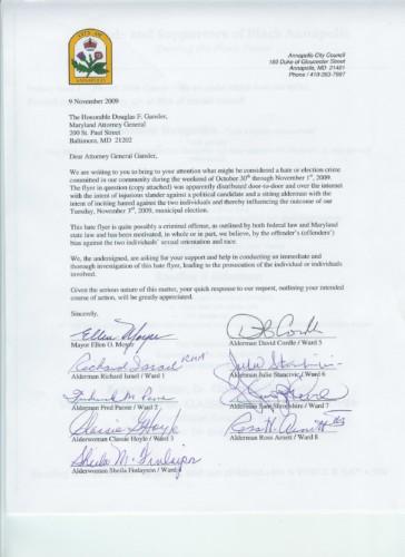 Gansler Letter 110909