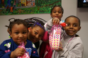 Light House Shelter kids enjoy Valentine's Day