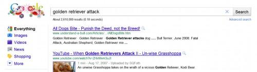 Golden Retriever Attack