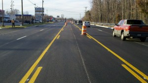 Completed work on MD 175