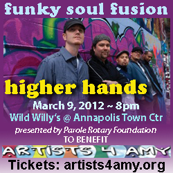 Higher Hands To Perform At Artists 4 Amy Benefit At Wild Willy's