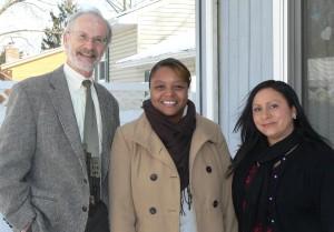 (L to R) Ron Callison, Maryland Affordable Housing Trust Coordinator; Rasheda O'Neal, Program Coordinator-Bello Machre; Sabine Peterson, Family Living Director-Bello Machre Elmhurst Road Home (Courtesy Photo)