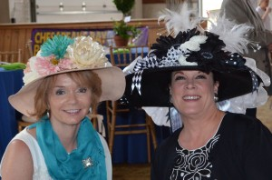 Betsie Russell left (Severna Park) and Tina Palmer right (Severna Park) showing off their hats at Maryland Therapeutic Riding's Derby Day 2012.  This year's Derby Day will be held on Saturday, May 4, 2013 from 5 to 10 pm on MTR's farm located at 1141 Sunrise Beach Road in Crownsville.    This signature fundraiser is quickly becoming known as the most fun while doing the most good in the Annapolis area.  For more information on sponsorship and benefits, Derby Day reservations, or auction item donations please visit www.HorsesThatHeal.org or call 410-923-6800.