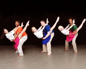 """Member of the AACC Dance Company, from left, Evelyn Paddy (Centrevile) and Arrington Lassiter (Washington, D.C.), Rachael Scaringe (Millersville) and Samuel Boquist (Baltimore) and Kelsey Garrett (Severn) and Andre Hinds (Millersville) practice a dance routine in preparation for the company's """"Spring Migration"""" performances at 8 p.m. Thursday-Saturday, May 2-4, in the Robert E. Kauffman Theater of the Pascal Center for Performing Arts on the Anne Arundel Community College Arnold campus, 101 College Parkway. For tickets, contact the AACC box office at 410-777-2457 or boxoffice@aacc.edu."""
