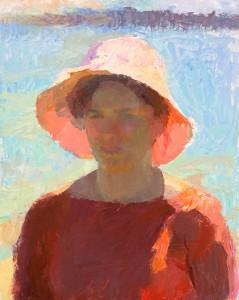 John Ebersberger Grace, oil at McBride Gallery med