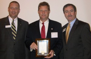 L to R Scott R. Salemme, Regional CEO, American Red Cross of the Chesapeake Region, Steven R. Schuh and Stephen Palmer, Chair, Red Cross of Anne Arundel County
