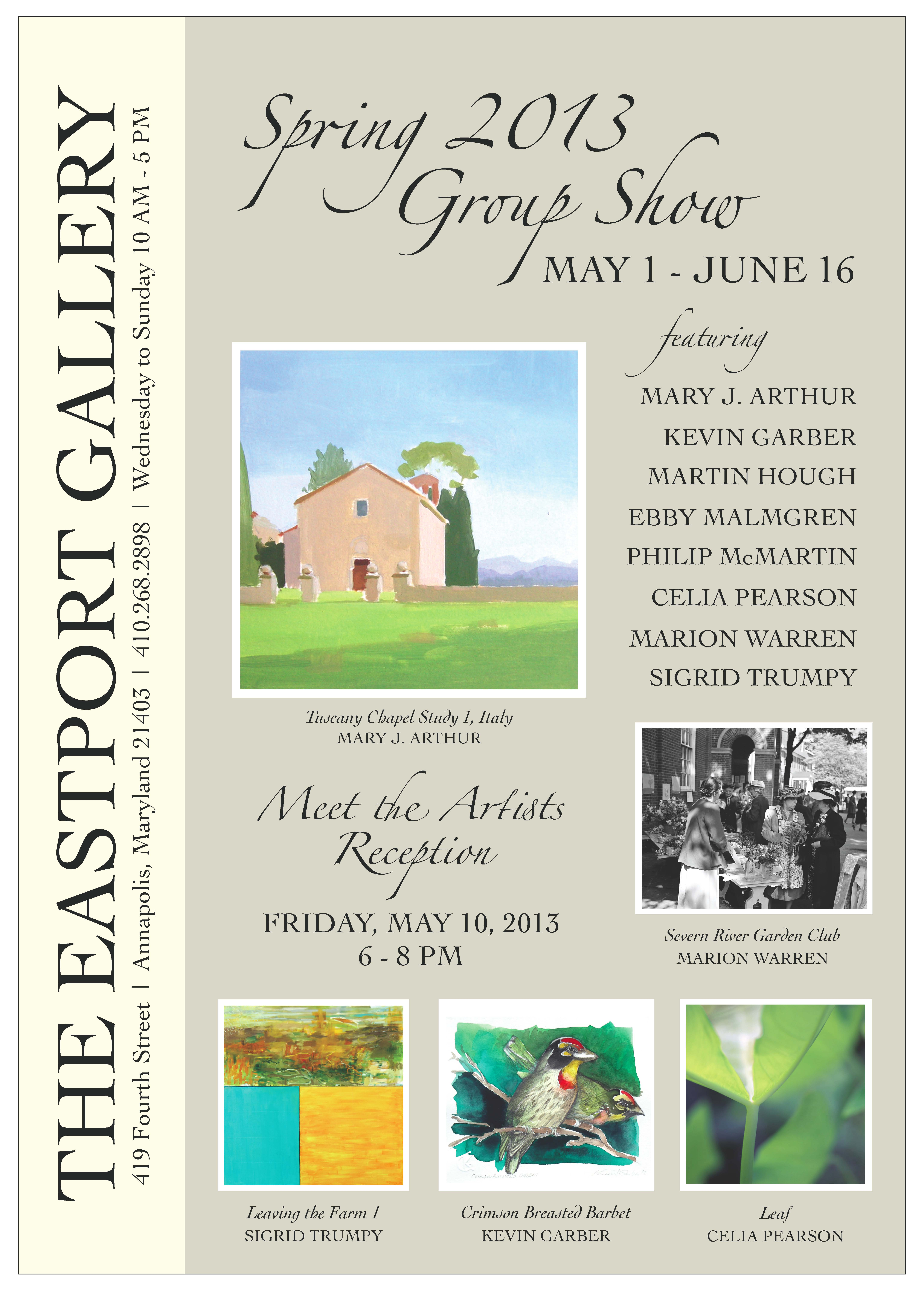 Spring 2013 Group Show reception at The Eastport Gallery