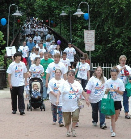 Participants begin the walk for Every Step Counts (Courtesy Photo)