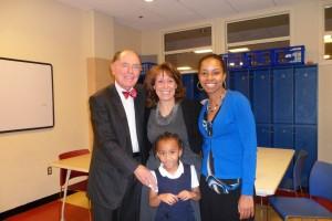Dr. Robert Graw; Summit's Executive Director, Dr. Joan Mele-McCarthy; Summit Tutor Coordinator, Takisha Robinson Ubiera of Clinton; and student, Kalia Lamkin of Annapolis.