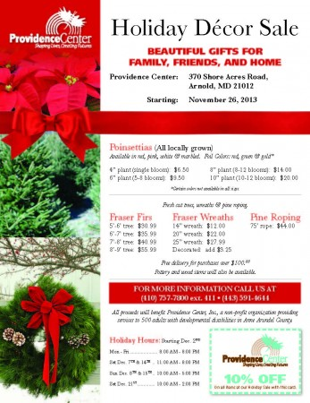 Holiday Sale flyer 2013