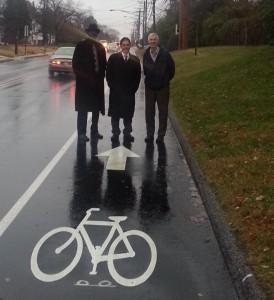 Left to right - Alderman Kenneth Kirby, Mayor Josh Cohen, DPW Director David Jarrell