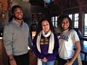 (L to R) Terrance Brownlee, Towson University; Maria Ricker, West Chester University; and Alana Anthony, Messiah College.