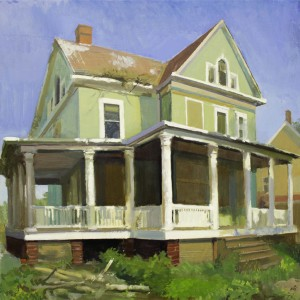 """Green House"" is one of Matt Klos' latest plein-air paintings created as part of his sabbatical art project, ""The Fort Howard Paintings."" He will talk about his inspiration and techniques from noon to 1 p.m. Feb. 20 in the Cade Center for Fine Arts Gallery Room 326 on the Arnold campus, 101 College Parkway. For updates or more information, visit www.aacc.edu/visualarts/newsevents.cfm."