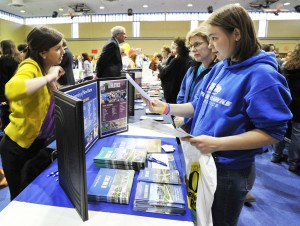 Students have the opportunity to ask questions about programs and admissions policies face-to-face with more than 100 colleges who traditionally attend Anne Arundel Community College's annual College Fair. This year's College Fair is Wednesday, March 12, from 6-8 p.m. in the David S. Jenkins Gymnasium on AACC's Arnold campus, 101 College Parkway. For an up-to-date list of colleges planning to attend, visit www.aacc.edu/collegefair.